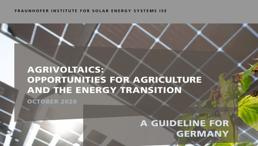 Agrivoltaics, Opportunities For Agriculture and Solar Energy