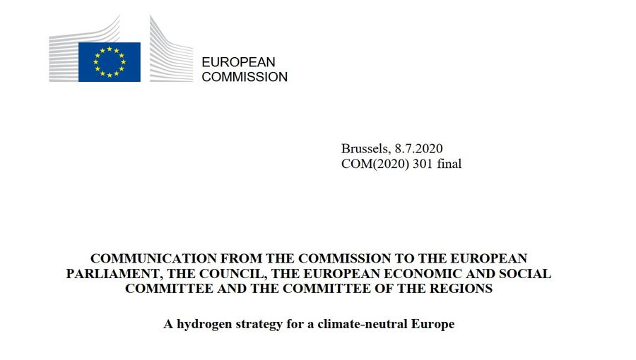 A Hydrogen Strategy For A Climate Neutral Europe