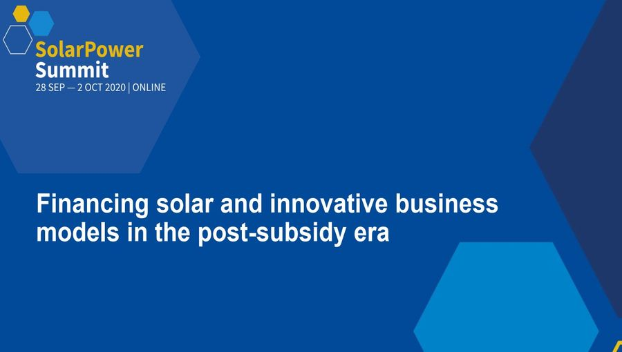 Financing Solar and Innovative Business Models In The Post-Subsidy Era