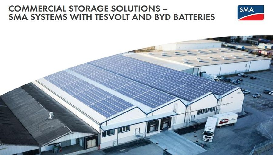 Commercial Storage Systems by SMA and BYD
