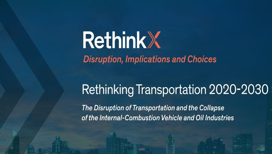 The Disruption of Transportation and the Collapse of the Internal-Combustion Vehicle and Oil Industries