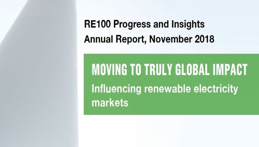 RE100 Progress And Insights 2018 Report