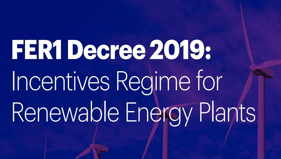 Fer1 Decree, Renewable Incentives For Italy